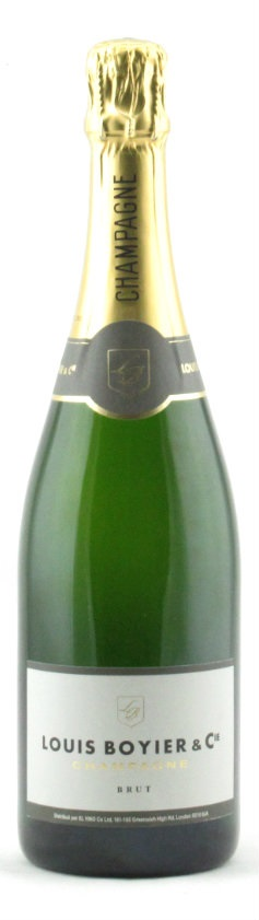 bottle of El Vino Champagne Louis Boyier Brut nv