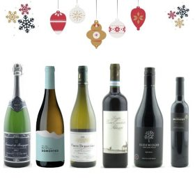 6 mixed bottles of wine for Christmas drinking