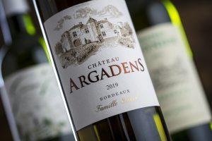 bottle chateau argadens white wine bordeaux